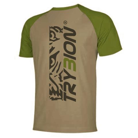 Camiseta Trybion camel kaki parte de atras