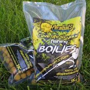 boilies banana pina peralbaits 300x300 - Cebos para Carpas