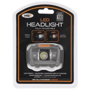 NGT LED linterna frontal cabeza con luz blanca y roja 100 lumens 300x300 - NGT LED linterna frontal cabeza con luz blanca y roja 100 lumen