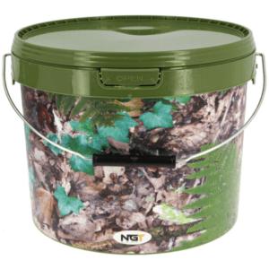 NGT cubo de 5 litros camuflae con asa de metal 300x300 - NGT Cubo de 5 litros color camuflaje