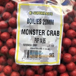 boilies superbaits 5kg monsters crab carp 300x300 - Boilies Monster Crab 20 mm 5 kg Superbaits