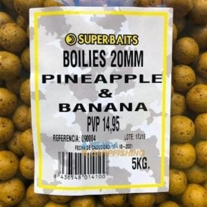 boilies superbaits 5kg pina banana carp 300x300 - Boilies Piña Banana 20 mm 5 kg Superbaits
