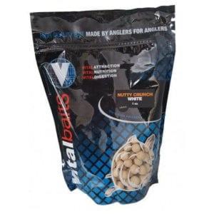 Boilies nutty crunch blancos vitalbaits 300x300 - Boilies Nutty Crunch blancos  Vitalbaits 18 mm